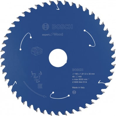 Bosch Kreissägeblatt Expert for Wood, 190x1,5/1x30, 48Zähne - 2608644514
