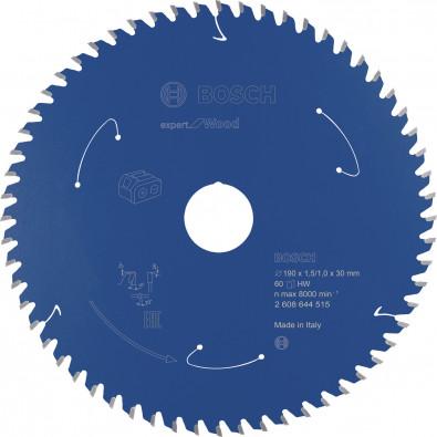 Bosch Kreissägeblatt Expert for Wood, 190x1,5/1x30, 60Zähne - 2608644515