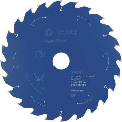 Bosch Kreissägeblatt Expert for Wood, 216x1,7/1,2x30, 24Zähne - 2608644520