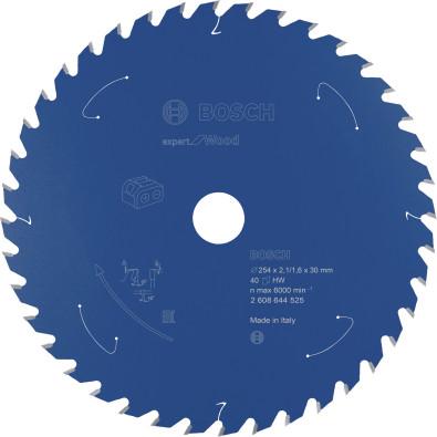 Bosch Kreissägeblatt Expert for Wood, 254x2,1/1,6x30, 40Zähne - 2608644525