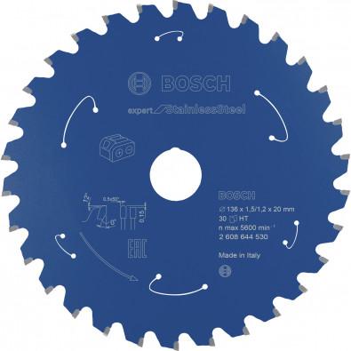 Bosch Kreissägeblatt Expert for Stainless Steel, 136x1,5/1,2x20, 30Zähne - 2608644530
