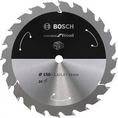 Bosch Kreissägeblatt Standard for Wood, 150x1,6/1x10, 24Zähne - 2608837673