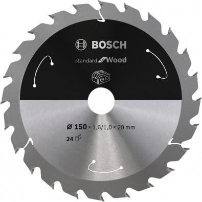 Bosch Kreissägeblatt Standard for Wood, 150x1,6/1x20, 24Zähne - 2608837674