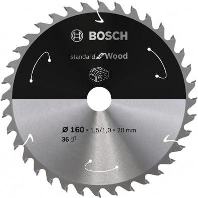 Bosch Kreissägeblatt Standard for Wood, 160x1,5/1x20, 36Zähne - 2608837677