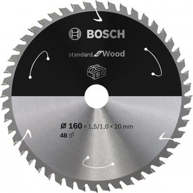Bosch Kreissägeblatt Standard for Wood, 160x1,5/1x20, 48Zähne - 2608837678