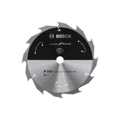 Bosch Kreissägeblatt Standard for Wood, 165x1,5/1x15,875, 12Zähne - 2608837680