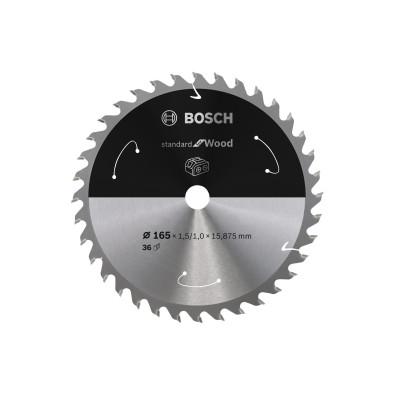Bosch Kreissägeblatt Standard for Wood, 165x1,5/1x15,875, 36Zähne - 2608837682