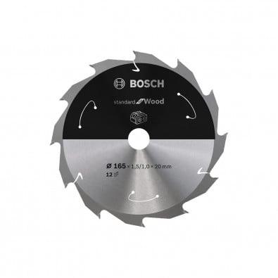 Bosch Kreissägeblatt Standard for Wood, 165x1,5/1x20, 12Zähne - 2608837684
