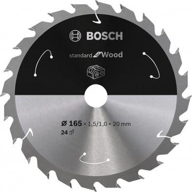 Bosch Kreissägeblatt Standard for Wood, 165x1,5/1x20, 24Zähne - 2608837685