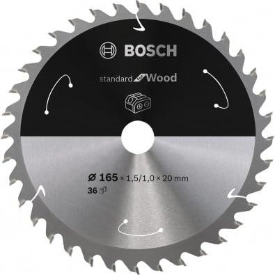 Bosch Kreissägeblatt Standard for Wood, 165x1,5/1x20, 36Zähne - 2608837686