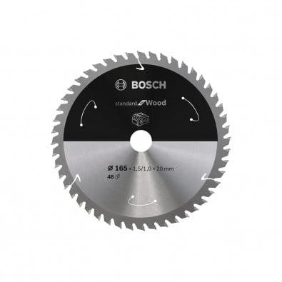 Bosch Kreissägeblatt Standard for Wood, 165x1,5/1x20, 48Zähne - 2608837687