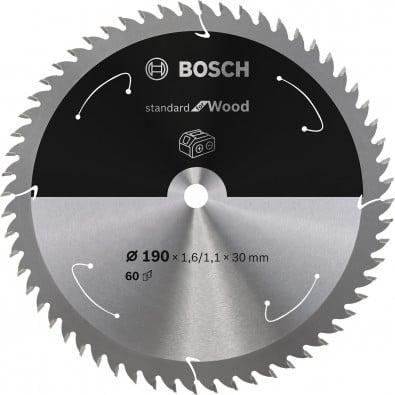 Bosch Kreissägeblatt Standard for Wood, 190x1,6/1,1x30, 60Zähne - 2608837711