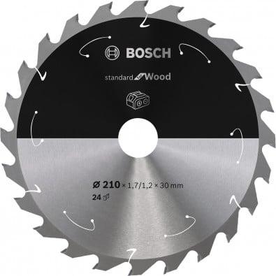 Bosch Kreissägeblatt Standard for Wood, 210x1,7/1,2x30, 24Zähne - 2608837713
