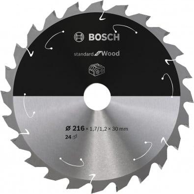 Bosch Kreissägeblatt Standard for Wood, 216x1,7/1,2x30, 24Zähne - 2608837721