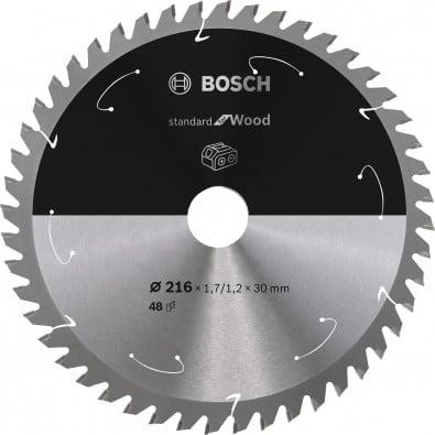 Bosch Kreissägeblatt Standard for Wood, 216x1,7/1,2x30, 48Zähne - 2608837723