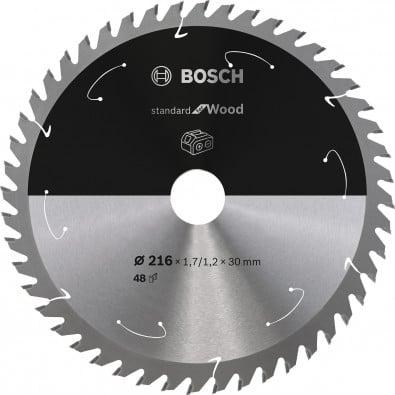 Bosch Kreissägeblatt Standard for Wood, 216x1,7/1,2x30, 48Zähne - 2608837726