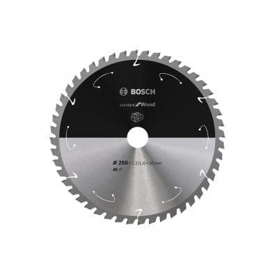 Bosch Kreissägeblatt Standard for Wood, 250x2,2/1,6x30, 48Zähne - 2608837728
