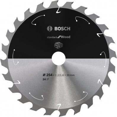 Bosch Kreissägeblatt Standard for Wood, 254x2,2/1,6x30, 24Zähne - 2608837733