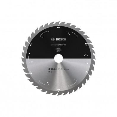 Bosch Kreissägeblatt Standard for Wood, 254x2,2/1,6x30, 40Zähne - 2608837734