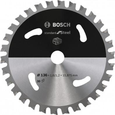 Bosch Kreissägeblatt Standard for Steel, 136x1,6/1,2x15,875, 30Zähne - 2608837745