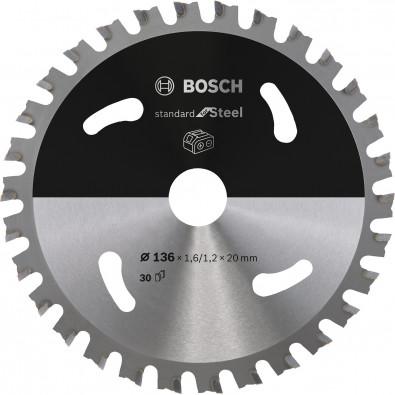 Bosch Kreissägeblatt Standard for Steel, 136x1,6/1,2x20, 30Zähne - 2608837746