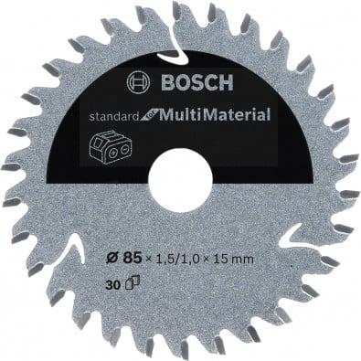 Bosch Kreissägeblatt Standard for Multimaterial, 85x1,5/1x15, 30Zähne - 2608837752