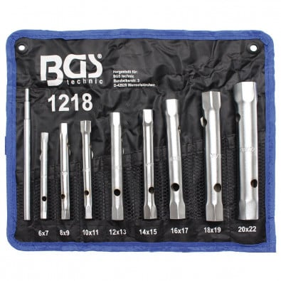 BGS 8-tlg. Rohrsteckschlüssel-Satz 6x7-20x22 mm - 1218