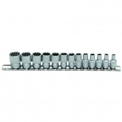 "BGS 13-tlg. Gear Lock Steckschlüssel-Einsätze 6,3 mm (1/4"") - 2150"