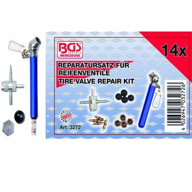 BGS 14-tlg. Reparatur-Satz für Reifenventile - 3272