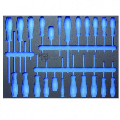 BGS 3/3 Werkstattwageneinlage LEER für: 23-tlg. Schraubendreher-Set - 4014-5