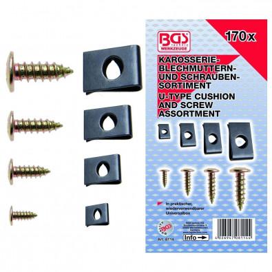 BGS 170-tlg. Dämpfungsscheiben- und Schrauben-Sortiment - 8114