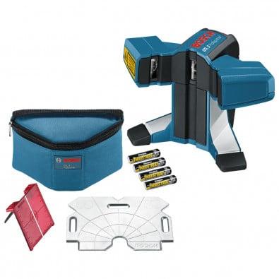 Bosch Fliesenlaser GTL 3 1,5 V / 4x Batterie inkl. Zubehör-Set - 0601015200