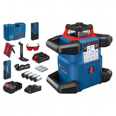 Bosch Rotationslaser GRL 600 CHV 18 V / 1x 4,0 Ah ProCORE Akku + Ladegerät inkl. Zubehör-Set in Koffer - 0601061F00