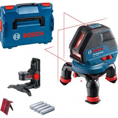 Bosch Linienlaser GLL 3-50 / 4x 1,5 V-LR6-Batterie inkl. BM 1 + Laserzieltafel in L-Boxx - 0601063802