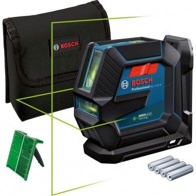 Bosch Linienlaser GLL 2-15 G inkl. Batterien & Zubehör in Tasche - 0601063W00