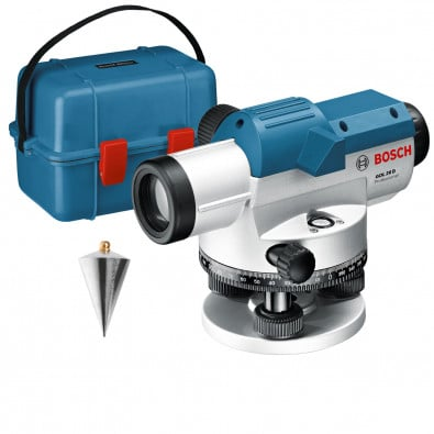 Bosch optisches Nivelliergerät GOL 26 D in Transportkoffer - 0601068000