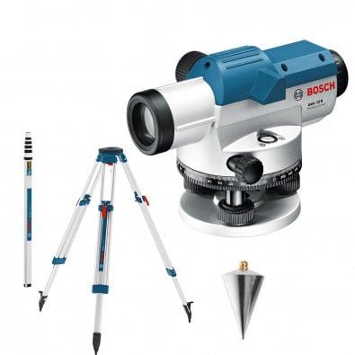 Bosch optisches Nivelliergerät GOL 32 D mit Baustativ BT 160 + Messstab GR 500 - 0601068502