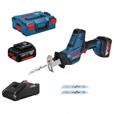 Bosch Akku-Säbelsäge GSA 18V-LI Compact / 2x 5,0 Ah Akku + Ladegerät in L-Boxx - 06016A5002