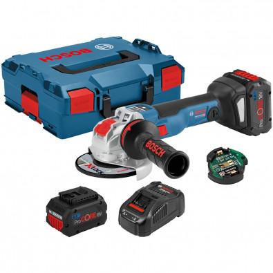 Bosch Akku-Winkelschleifer GWX 18V-10 SC/ 2x 8,0 Ah ProCORE18V Akku + Ladegerät in L-Boxx - 06017B0401