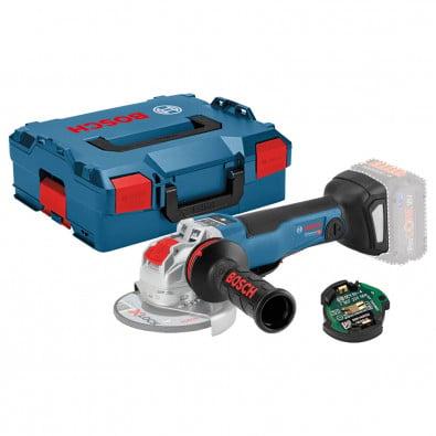 Bosch Akku-Winkelschleifer GWX 18V-10 PSC Solo inkl. Modul GCY 42 in L-BOXX - 06017B0800