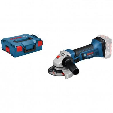 Bosch Akku-Winkelschleifer GWS 18-125 V-LI Clic&Go Solo in L-Boxx - 060193A308