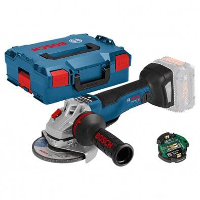 Bosch Akku-Winkelschleifer GWS 18V-10 PSC Solo inkl. Bluetooth Low Energy Modul GCY 42 in L-Boxx - 06019G3F0B
