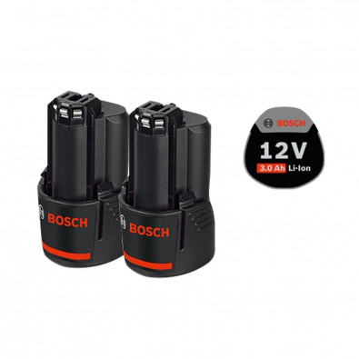 Bosch Akku GBA 12 Volt / 2x 3,0 Ah Professional- 1600A00X7D