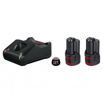 Bosch Starter-Set 12 V 2x 2,0 Ah Akku + Ladegerät GAL 12V-40 - 1600A019R8