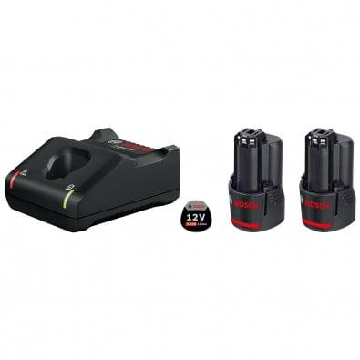 Bosch Akku-Starter-Set GBA 12 Volt / 2x 3,0 Ah + Schnellladegerät GAL 12V-40 - 1600A019RD