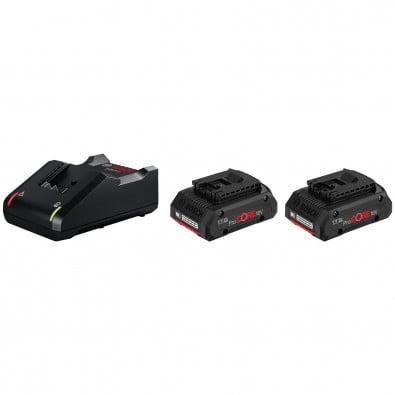 Bosch Starter-Set / 2x 4,0 Ah ProCORE18V Akku + Ladegerät GAL 18V-40 - 1600A01BA3