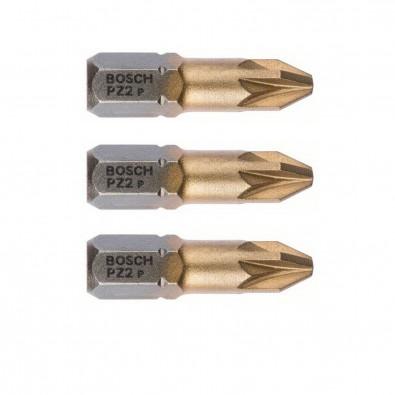 Bosch Schrauberbit Max Grip PZ2 25mm 3er-Pack - 2607001593