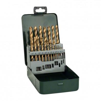 Bosch Metallbohrer-Set HSS-TiN Titanium, 19tlg., Metallkassette - 2607019437