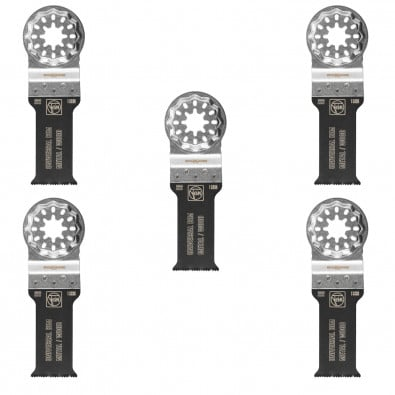 Fein 5x E-Cut Universal Sägeblatt Starlock 28 mm - 63502222230