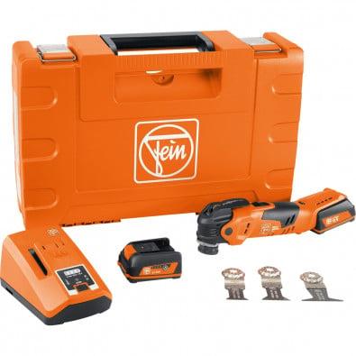 Fein MultiMaster AMM 300 PLUS START 12 V / 2x 3,0 Ah Akku + Ladegerät inkl. Zubehör in Koffer - 71293261000